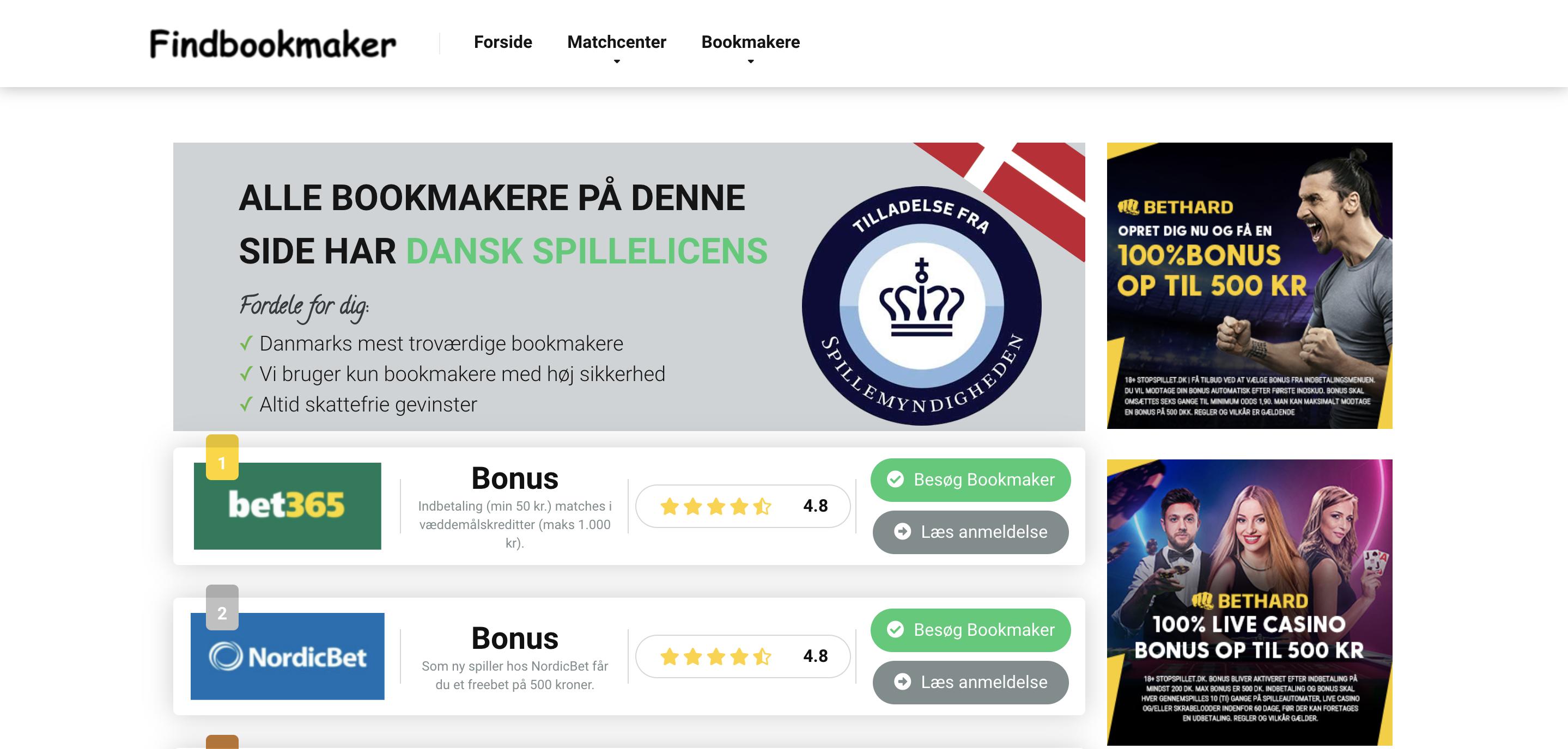 Findbookmaker.dk